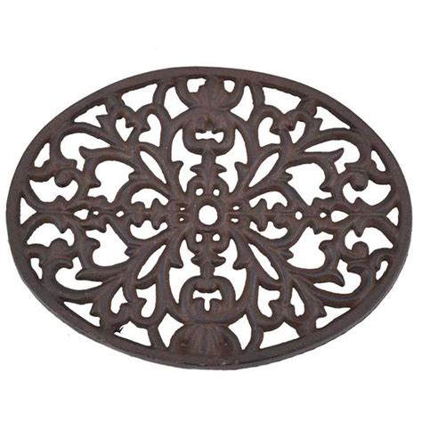 Home Decor Branches cast iron trivet da2594