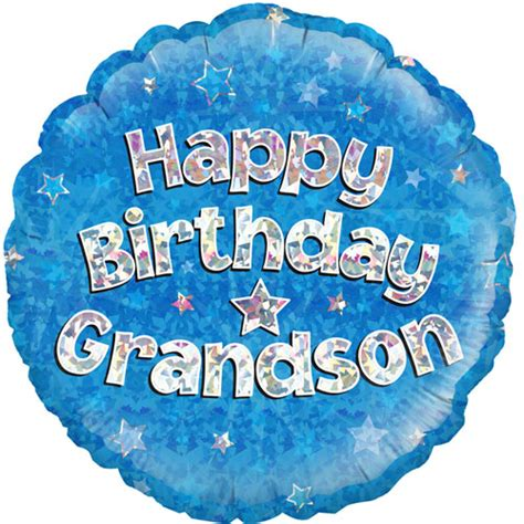 Birthday Decorations To Make At Home by 18 Happy Birthday Grandson Round Foil Balloon 1 18 Happy