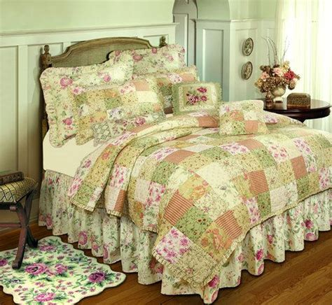 Floral Patchwork Bedding - chantelle floral patchwork quilted bedding the frog