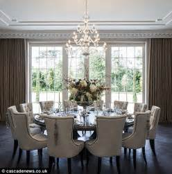 The Circular Dining Room by Surrey Mansion With Eight Bedroom Suites And Private
