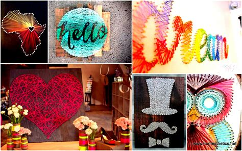 diy arts and craft 28 diy thread and nails string projects that will