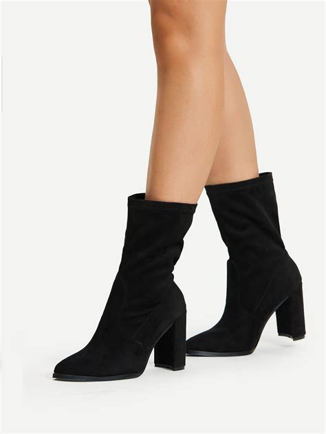 high heel ankle boot pointed toe high heeled ankle boots shein sheinside