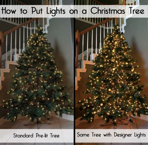 how to put lights on a tree