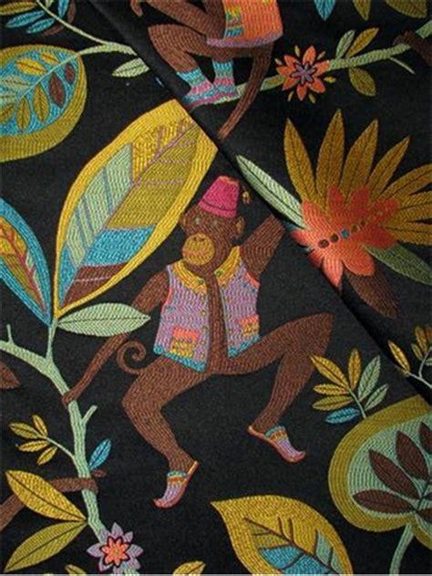 Monkey Upholstery Fabric by Funky Monkey Oasis P Kaufmann Fabric