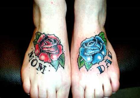 mom and dad rose tattoos tattoonow