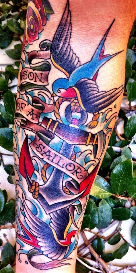 long beach tattoo swallows anchors nautical erika jurkovic outer limits