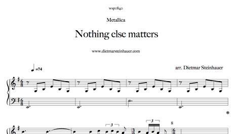 nothing else matters akkorde nothing else matters tastenland