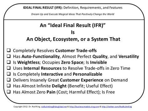final layout meaning ideal final result ifr definition