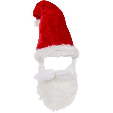 plush fur santa hat with mustache and beard 26561rdao