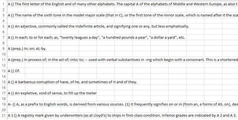 english dictionary in csv format bragitoff com