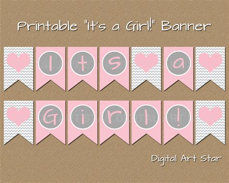Printable Baby Shower Banners digital printable decor diy printable it