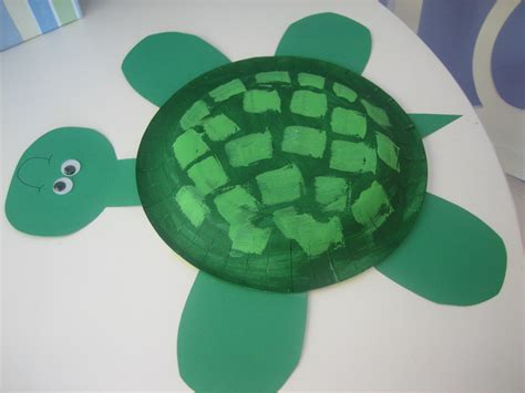 Paper Turtle Craft - summer craft paper plate turtle happy home