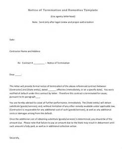 Cancellation Letter For Janitorial Services Formal Letter For Termination Of Contract Cancellation