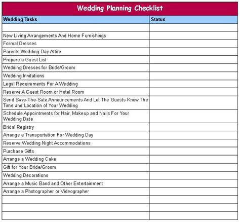 Planning marriage