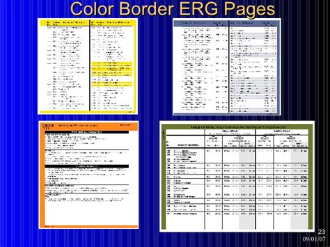 green section of erg using the emergency response guidebook
