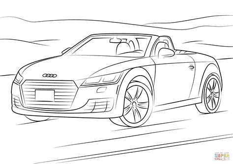 Ausmalbilder Audi by Audi Tt Coloring Page Free Printable Coloring Pages