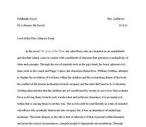 Lotf Essay by Lord Of The Flies Allegory Essay International Baccalaureate World Literature Marked By
