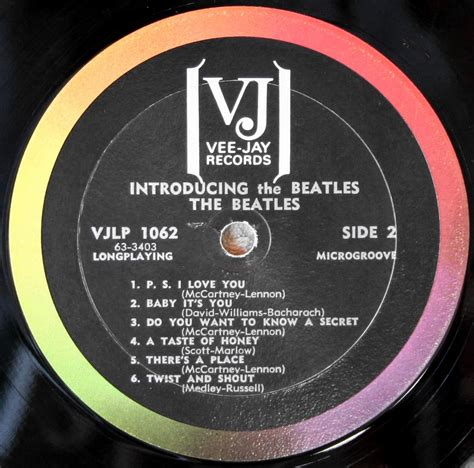 Mail Records The Beatles Collection 187 11 Beatles On Vee Records Part 1 Albums