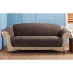 sure fit sofa covers sure fit 174 reversible suede sherpa sofa pet cover