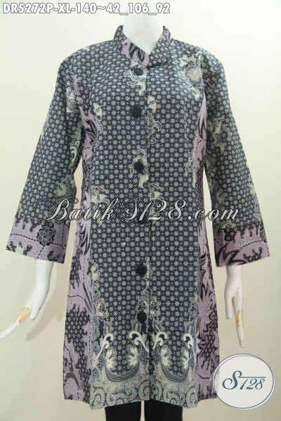 Terusan Daleman Pendek Kode 5906 baju dress elegan kerah paspol shanghai bahan halus proses