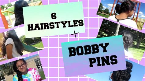 back to school hairstyles without bobby pins 6 back to school hairstyles diy colorful bobby pins