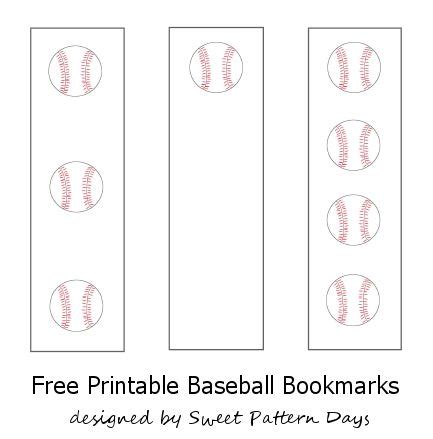 printable baseball bookmarks pinterest the world s catalog of ideas