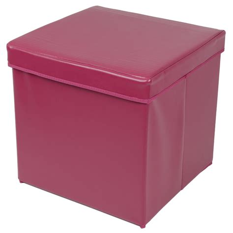 Ottoman Storage Box Ottoman Large Faux Leather Folding Storage Pouffe Box Foot Stool Seat Sale Ebay