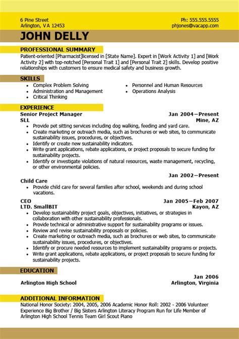 new resume format 2016 best resume format