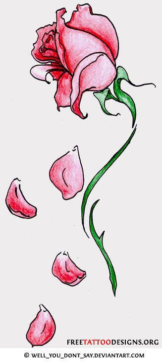 tattoo of rose petals falling fallen petal tattoos designs to enlarge