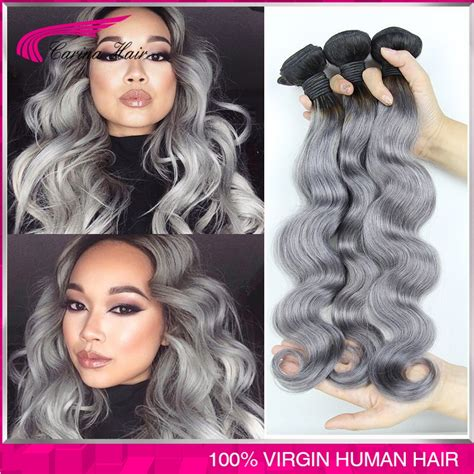 body wave on gray hair 1b gray hair extensions body wave peruvian virgin hair