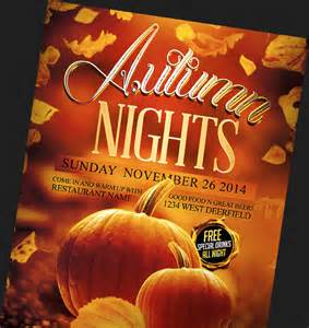 Fall Flyer Template by Autumn Fall Flyer Templates Archives Flyerheroes