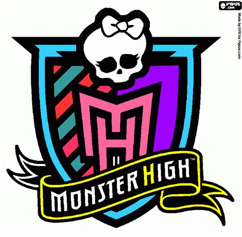 monster high symbol coloring pages free coloring pages of monster high skull symbol