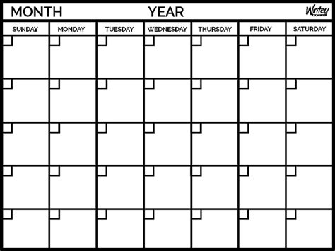 monthly calendar writeyboard australia