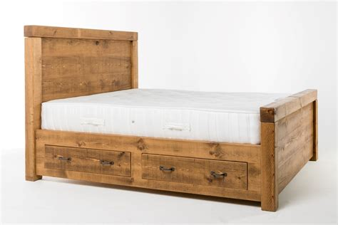 plank chunky frame double ft bed lpc furniture