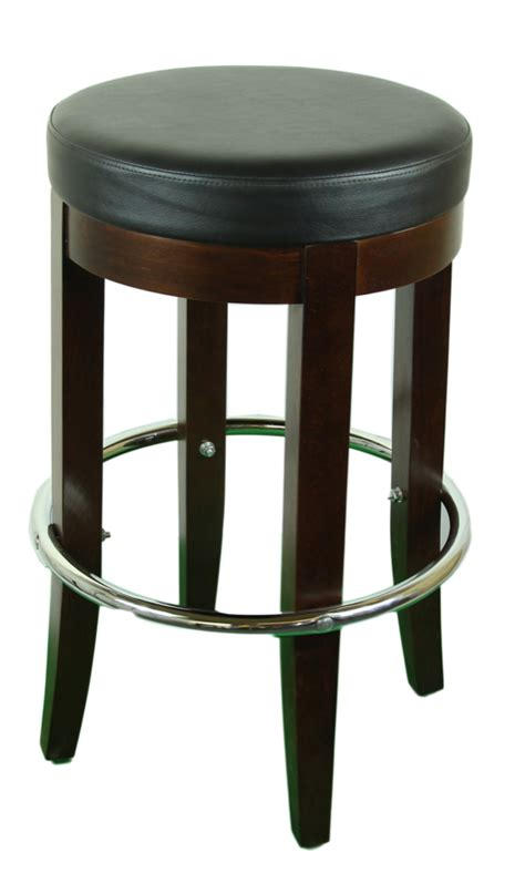 Bar Stool Foot Rings by Backless Wood Barstool With Padded Seat And Foot Ring