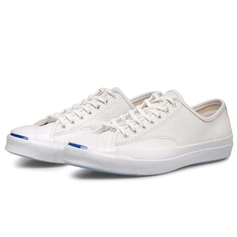 converse purcell signature ox white leather sneakers