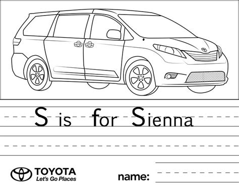 toyota car coloring page 1000 images about toyota for kids on pinterest toyota