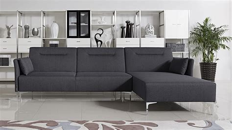 Grey Sectional Sofa Bed by Divani Casa Rixton Mid Century Grey Fabric Sofa Bed Sectional