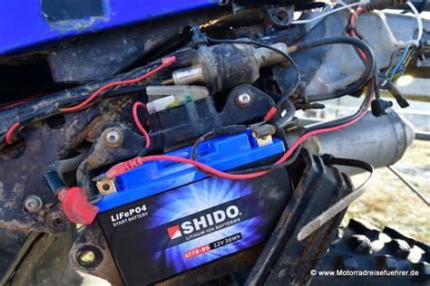 Motorrad Batterie Test Jmt by Spezialbatterien Lifepo4 Von Shido Panther Und Jmt