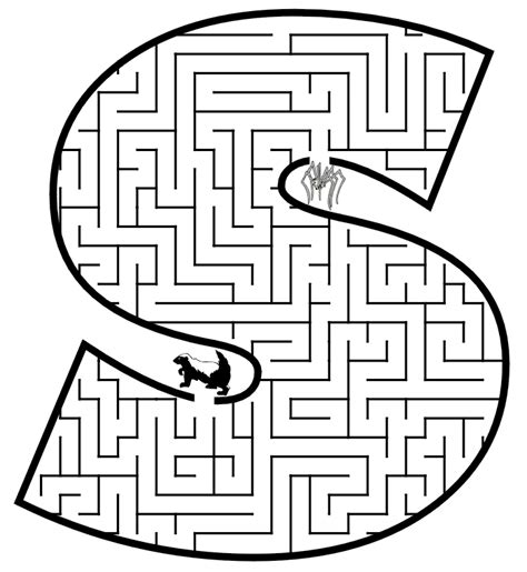 Free coloring pages of mazes for kids