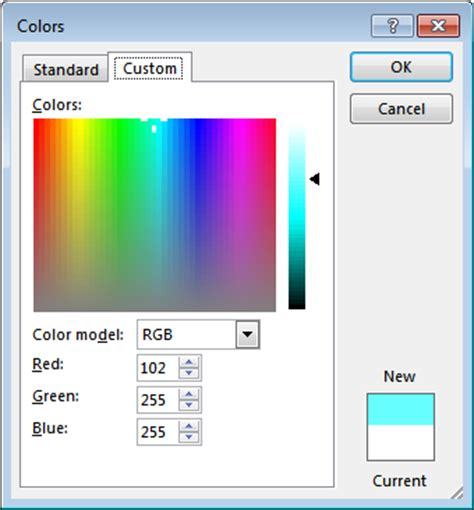 using colors in excel peltier tech