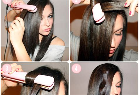curl your hair with straighteners how to curl your hair with a hair straightener alldaychic