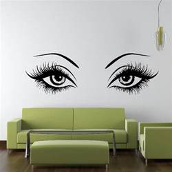 Eye Wall Stickers Sexy Eyes Wall Sticker Art Design Vinyl Transfer Graphic
