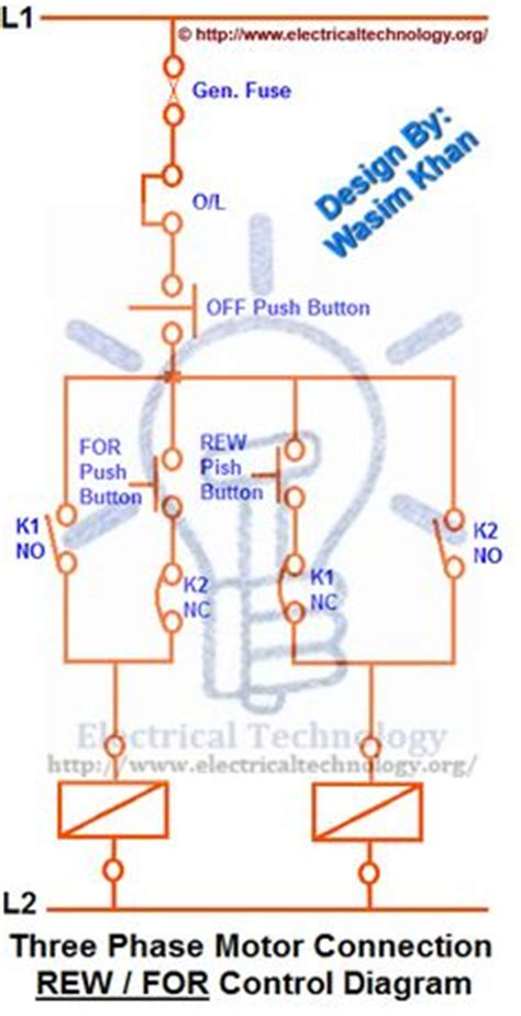 three phase motor delta y δ forward with