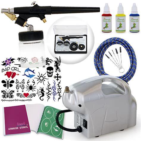 airbrush tattoo kit ebay starter beginner temporary temp tattoo airbrush kit body