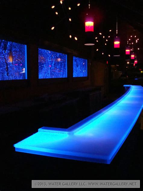 water gallery led frosted acrylic bar top water gallery llc
