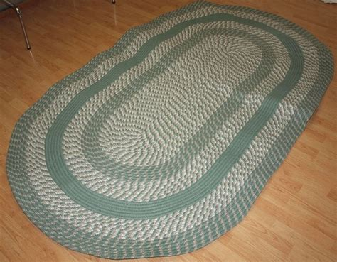 Oval Braided Rugs 5x8 by New Braided Rug Cambridge 5x8 Oval Green Country