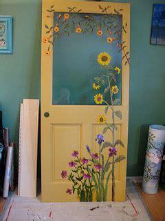 kate ladds art  blue heron studio painted door diy