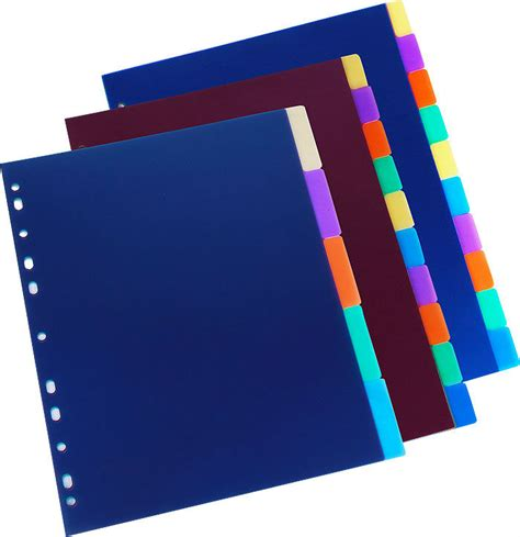 file dividers plastic file folder dividers with u clip buy paper file