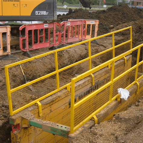 Fiberglass Handrail Trench Boxes Trench Sheets Amp Piles Products